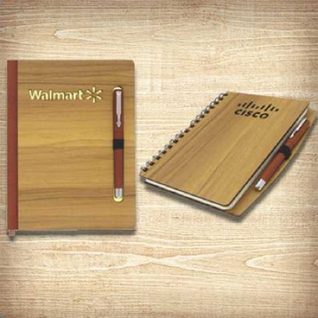 Wooden Notebook Diaries