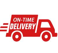 on time delivery, fast shipping.