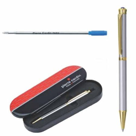 Pierre Cardin Cristal Series White Gold Finish Ball Pen