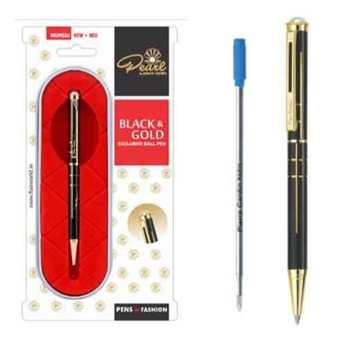 Pierre Cardin Pearl Black & Gold Ball Pen
