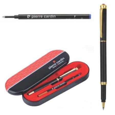 Pierre Cardin Black Chrome Finish Roller Ball Pen