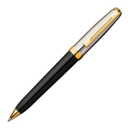 Sheaffer Prelude Black Onyx Ball Pen 22k Gold Plate Trim