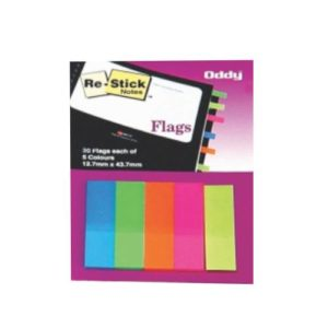 Oddy - Paper 5 Colors Tape Flags 12.7x44.3mm - 200 Sheets