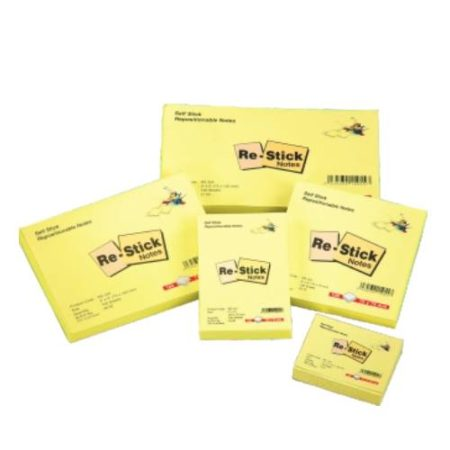ODDY – Selfstick Repositionable Note Pad Yellow-100 sheets