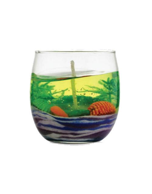 Aquatic Life Gel Candle