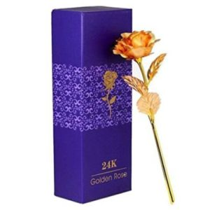 24K Gold Rose 10 Inch Gift Box