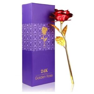 24K Red Gold Rose Gift Box