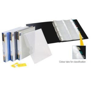 World One - Business Card Holder with Case & Index (500 Pockets) - BC104