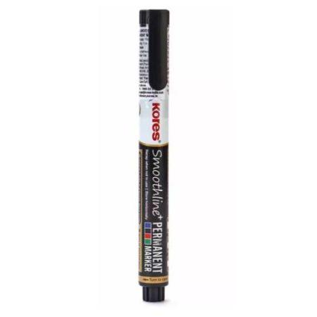 Kores - Smoothline Permanent Marker Pen Black - 10809250101