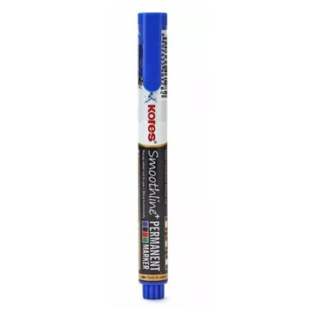 Kores - Smoothline Permanent Marker Pen Blue - 10809250201