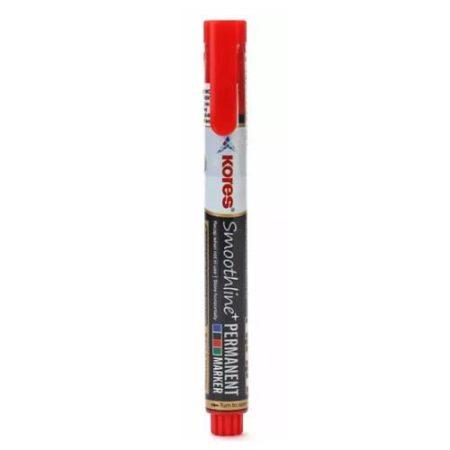 Kores - Smoothline Permanent Marker Pen Red - 10809250401
