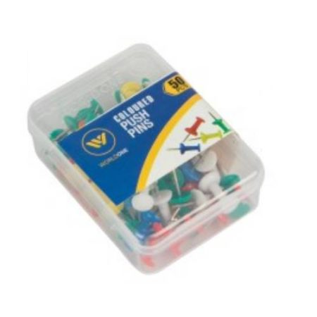 World One - COLOURED PUSH PIN - WPS080C