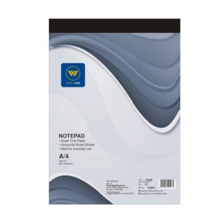 World One - Notepad Ruled 40 Sheets (A4) WPE - 1205
