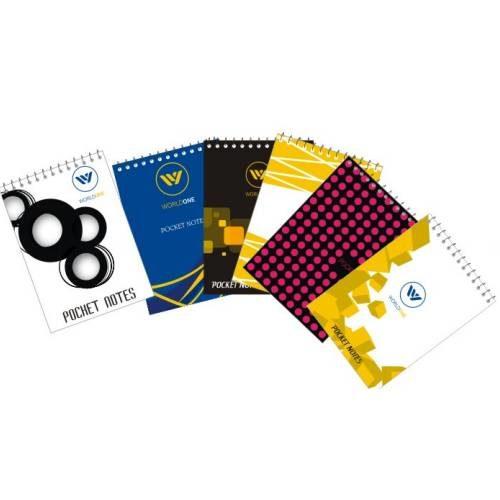 World One - Pocket Wiro Ruled Notepad WPE - 1219