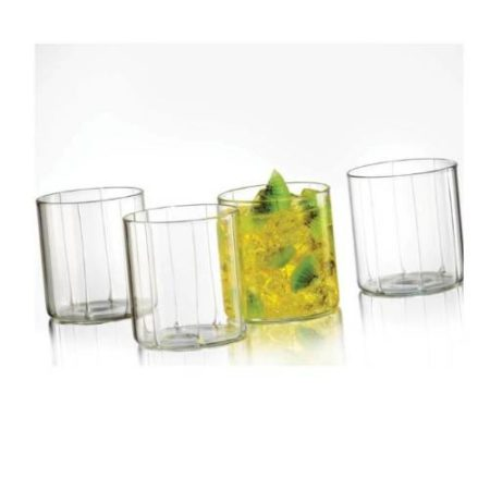 Borosil Bevel Glass Set of 6 - 305 ML