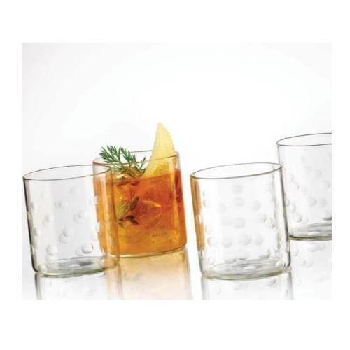 Borosil Polka Glass Set of 6 - 305 ML