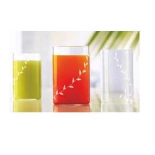 Borosil Vision White Krip Glass Set of 6 - 350 ML