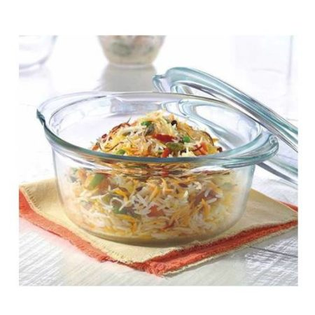 Borosil Deep Round Casserole With Lid - 1.75 Litre