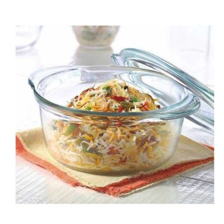 Borosil Deep Round Casserole With Lid - 2.5 Litre