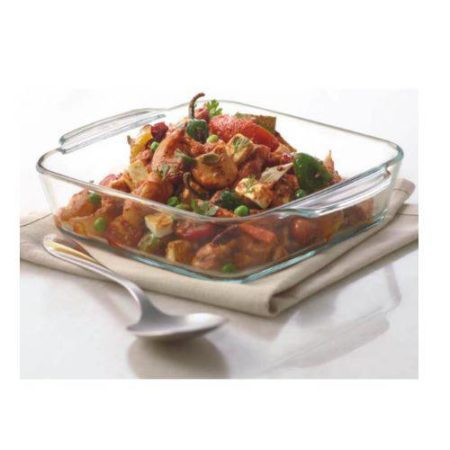 Borosil Square Dish with Handle Container- 1600 ML