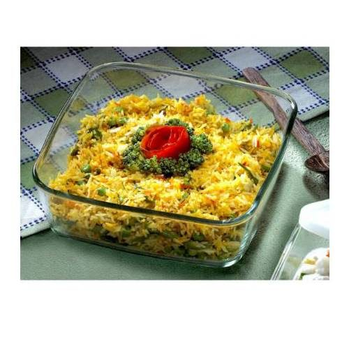 Borosil Square Dish without Handle Container - 1600 ML