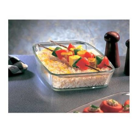 Borosil Square Dish with Handle Container - 800 ML
