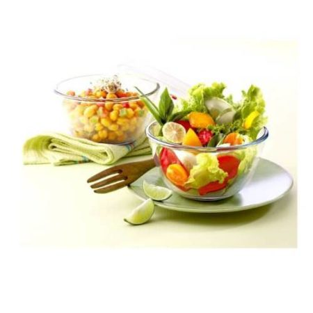 Borosil Sets of 2 Mixing Bowl With Plastic Lid - 900 ML