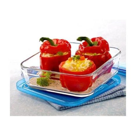 Borosil 3 in 1 Square Dish Container - 1200 ML