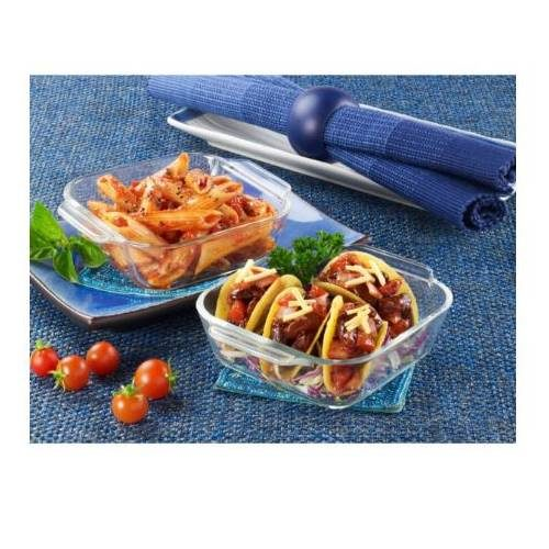 Borosil Set of 2 Small Dishes Container - 340 ML