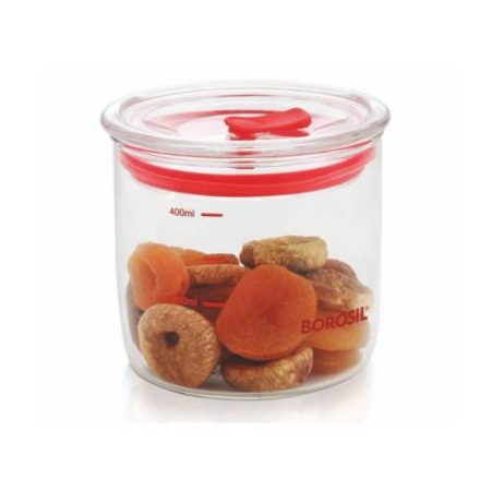 Borosil Classic Trend Jar With Lid 400 ML