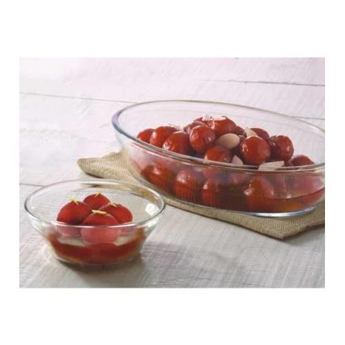 Borosil Dessert Set of 2 (Oval Dish + Dessert Katories)