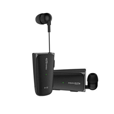 Portronics Harmonics Klip II Retractable In-Ear Bluetooth Earphones