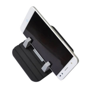 Portronics Pivot II Black Rubber Mat Mobile Holder