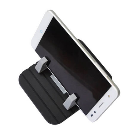 Portronics Pivot II Black Rubber Mat Mobile Holder