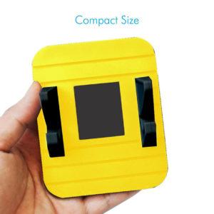Portronics Pivot II Yellow Rubber Mat Mobile Holder
