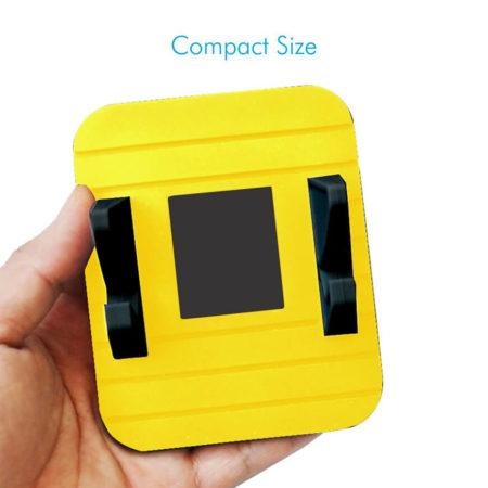 Portronics Pivot II Yellow Rubber Mat Mobile Holder
