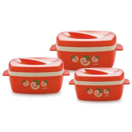 Cello Quadra Plastic Casserole Set