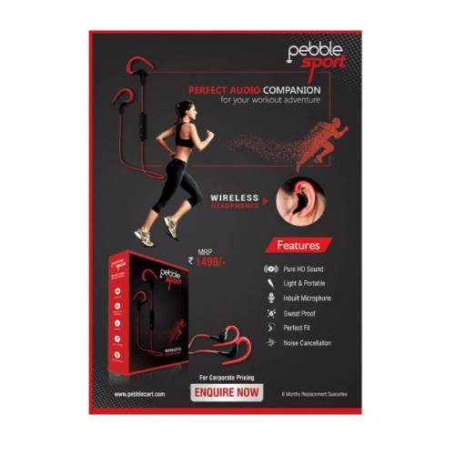 Pebble Sport - Light Weight Wireless Headphones