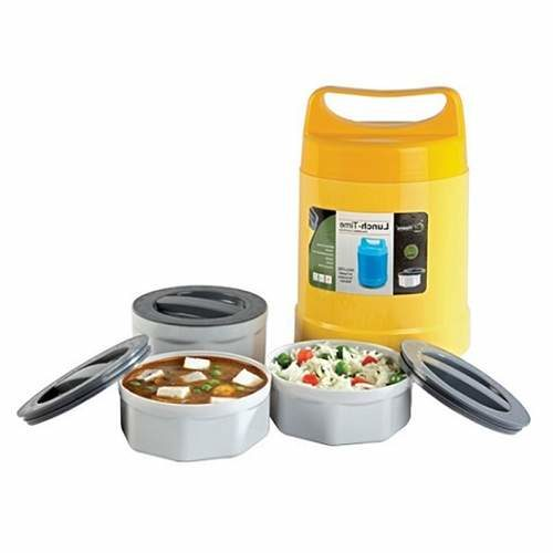 Lunch Time Microwaveable 3 Containers Lunch Box