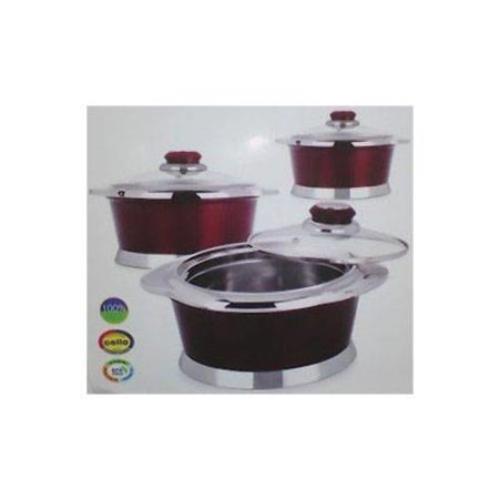 Cello Insulated Hotpot Monarch Set (3-Pieces)