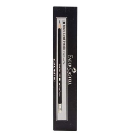 Faber-Castell Black Matt 1112 2B Pencil - Pack of 10