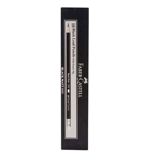 Faber-Castell Black Matt 1112 2B Pencil - Pack of 10