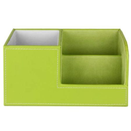 3 Compartments Green Desk Organizer