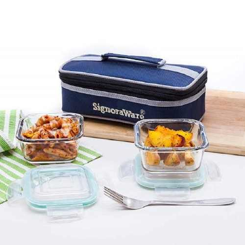 Signoraware Midday Square Crystal Lunch Box