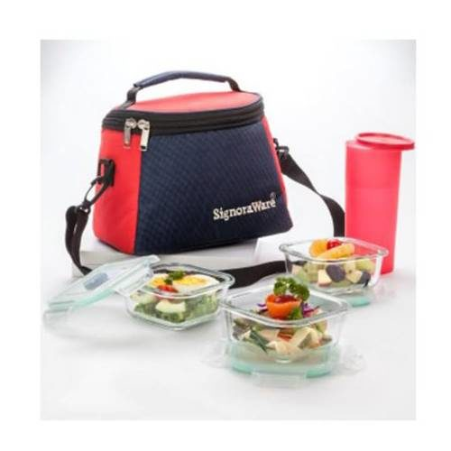 Signoraware Best Glass Lunch Box With Bag