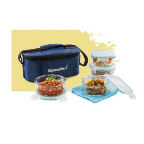 Signoraware Double Decker Crystal Lunch Box Set