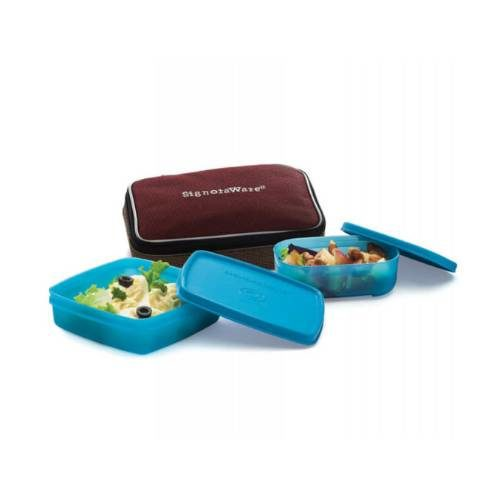 Signoraware Twin Smart Lunch Box (With Bag)