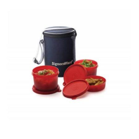 Signoraware Executive Lunch Box (Medium) With Bag