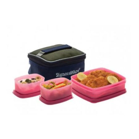 Signoraware Hot N Cute Lunch Box With Bag