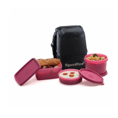 Signoraware Trio Lunch Box With Bag